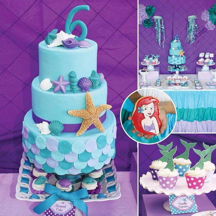 The Little Mermaid Cake Cakes And Biscuits Pinterest Mermaid
