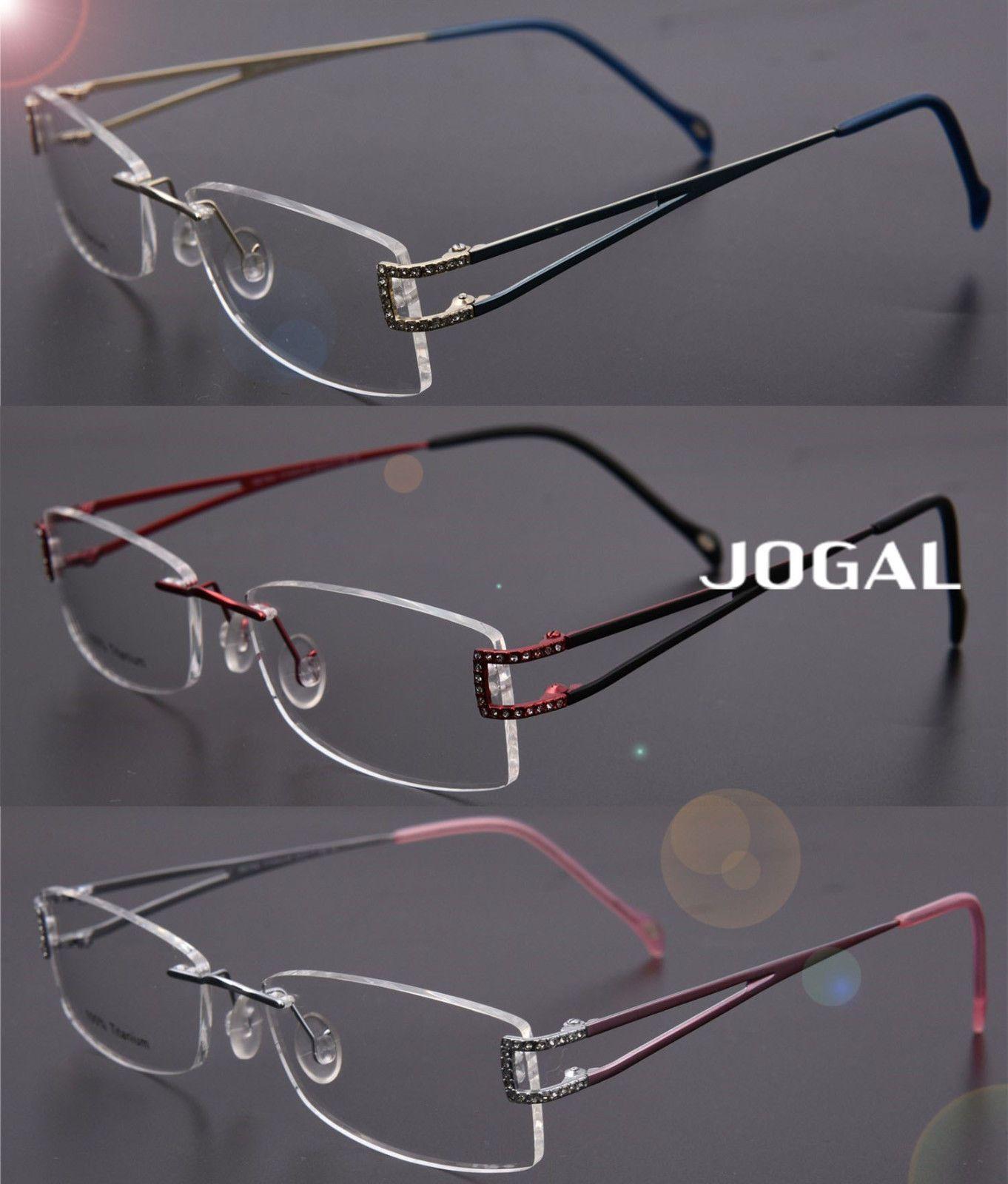 1f99724739 Womens Luxury -Titanium Rimless Glasses Eyewear Eyeglasses Frame Super Light