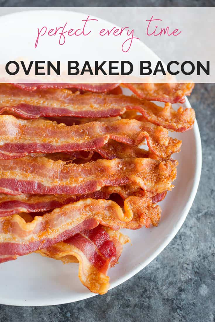 Oven Baked Bacon :: Making oven baked bacon could not be simpler! This easy recipe results in perfe