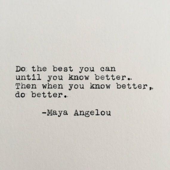 Maya Angelou Positivity Quote Typed on Typewriter  4x6 White   Etsy