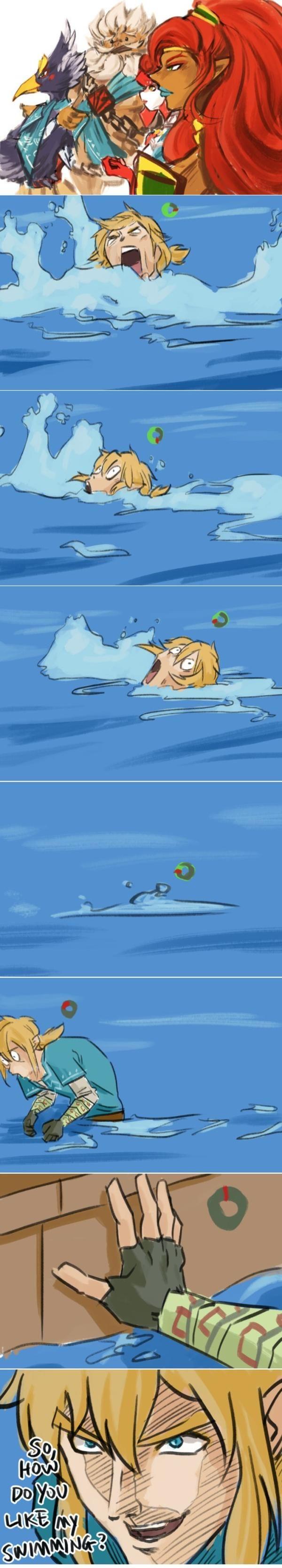 Swiming Breath Of The Wild Legend Of Zelda Legend Of Zelda