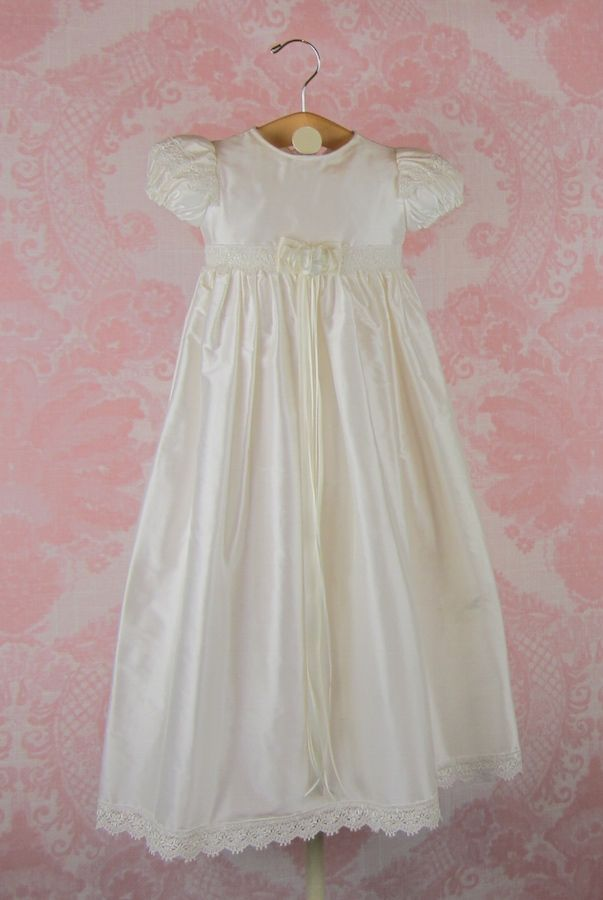 0440fa7a3 Carolina Designer Silk Christening Gown by Piccolo Bacio | Baptism ...