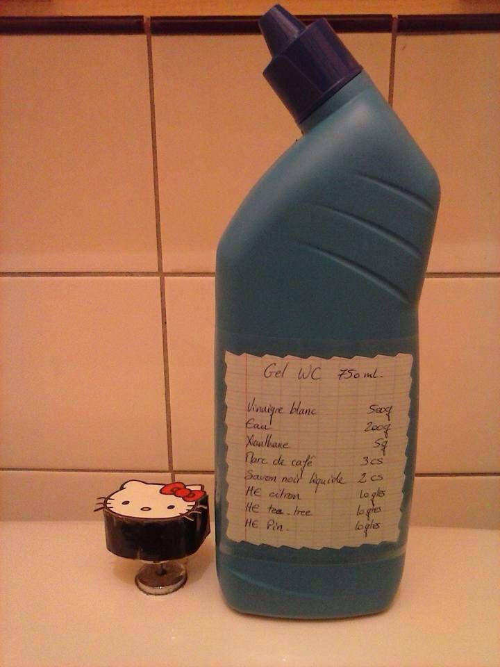 Gel Wc Fait Maison Vinaigre Blanc 500gr Eau 200gr Xanthane