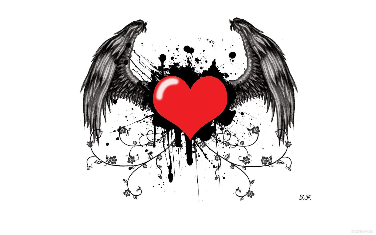 Tatuajes De Corazones Con Alas 3 Propuestas Alas Tatoo Corazon
