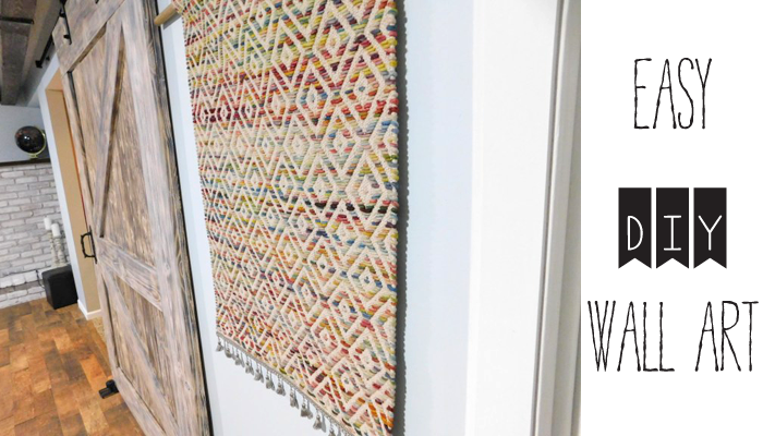 An easy way to add texture and warmth to your walls! And no sewing, knitting or weaving is required. Find more fun DIY's at LeahandJoe.com