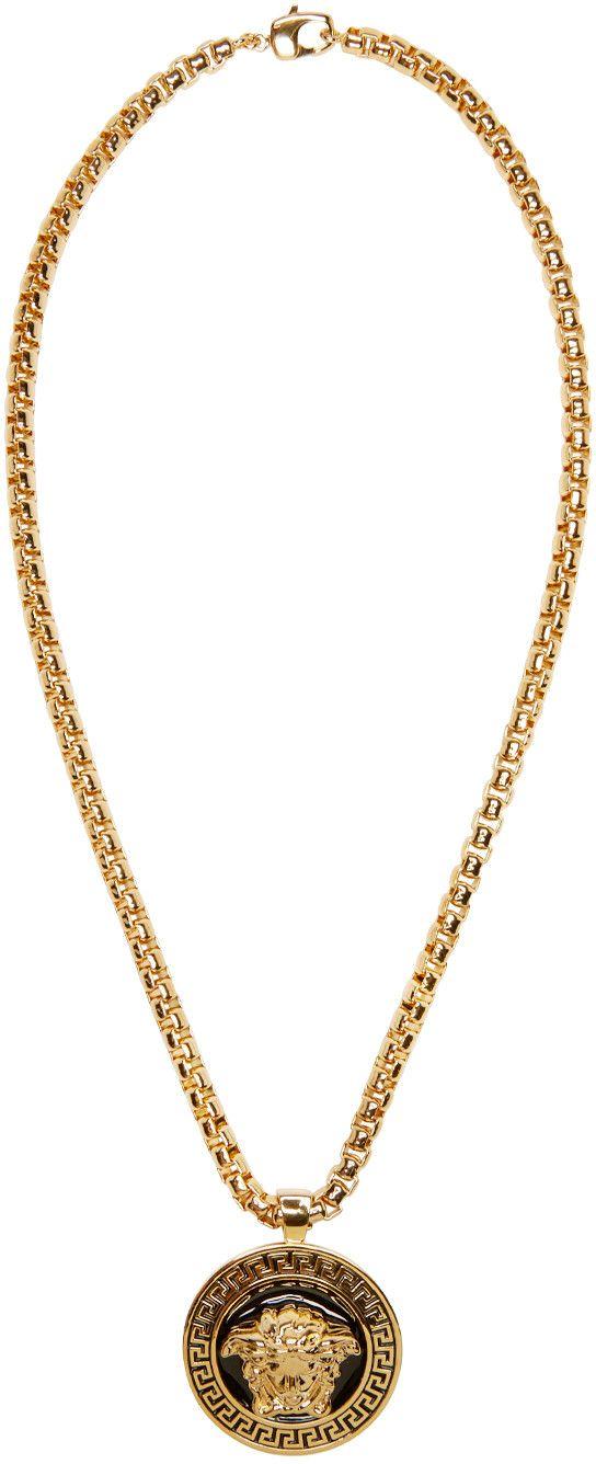 Versace gold medusa pendant necklace green pinterest versace gold medusa pendant necklace aloadofball Images