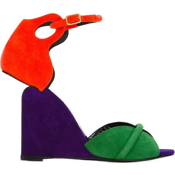 Pierre Hardy Colorblock Wedge Sandals outlet discount authentic LXcDRGsGl