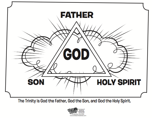 The Trinity Coloring Page - Bible Coloring Pages | Bible, Sunday ...