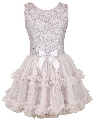 6bffe320932 Girl s Popatu Lace   Tulle Sleeveless Dress