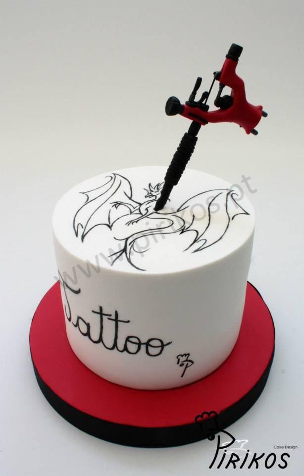 Edible Cake Tattoo Designs