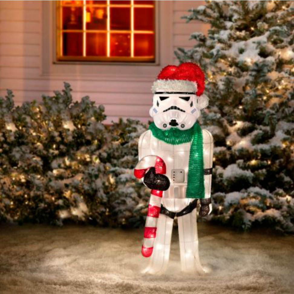 the pee wees playhouse outdoor holiday display just got way cooler with these star wars lawn ornaments