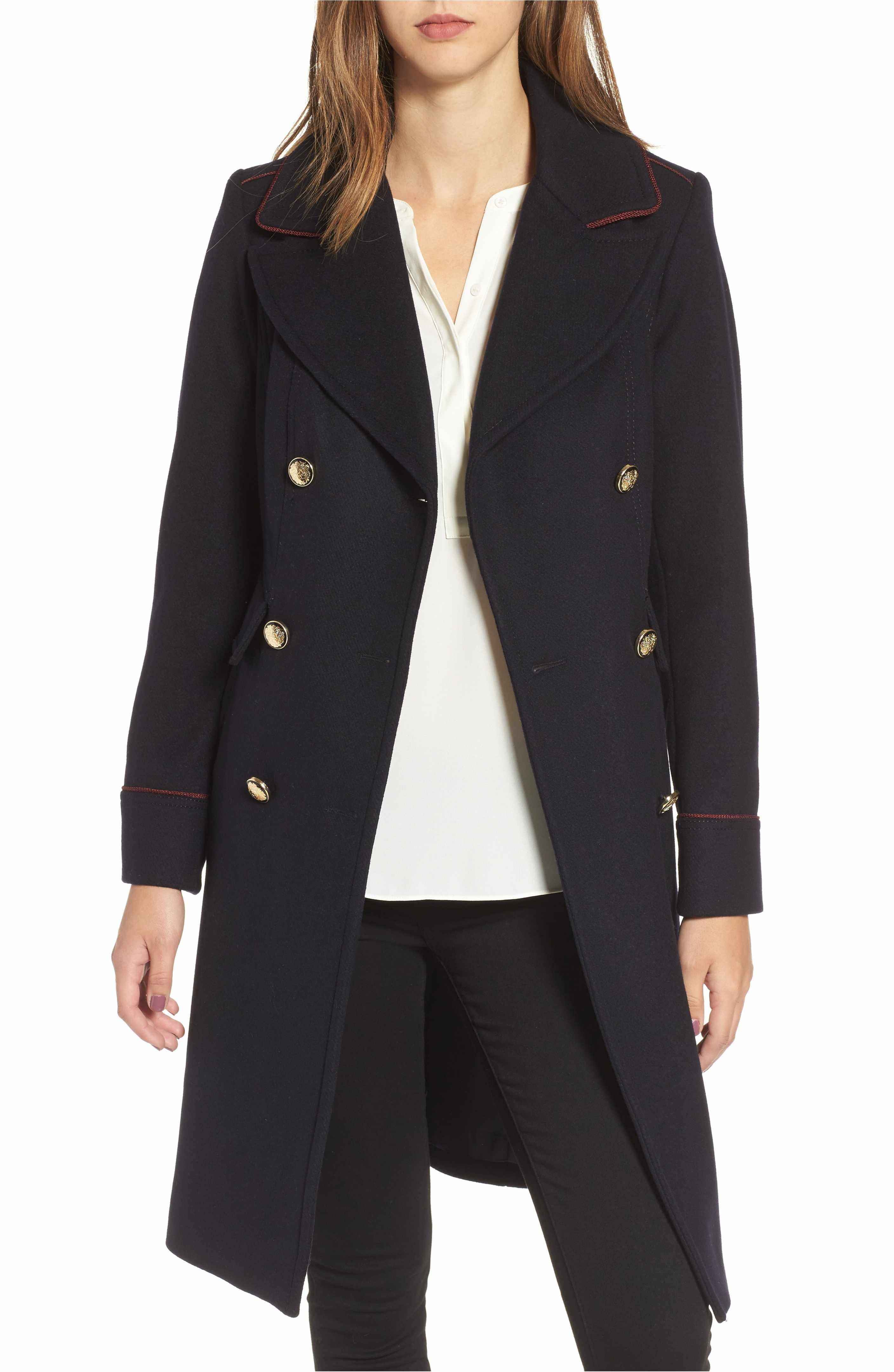 cd000145870 Main Image - Vince Camuto Double Breasted Utility Coat   Outerwear ...