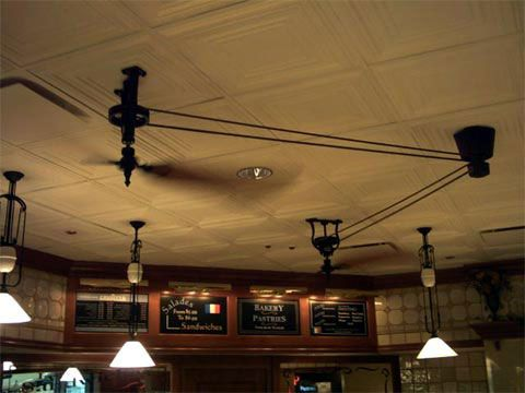 Like The Fans And The Pulley Lights Belt Driven Ceiling Fans Ceiling Fan Diy Farmhouse Ceiling Fan