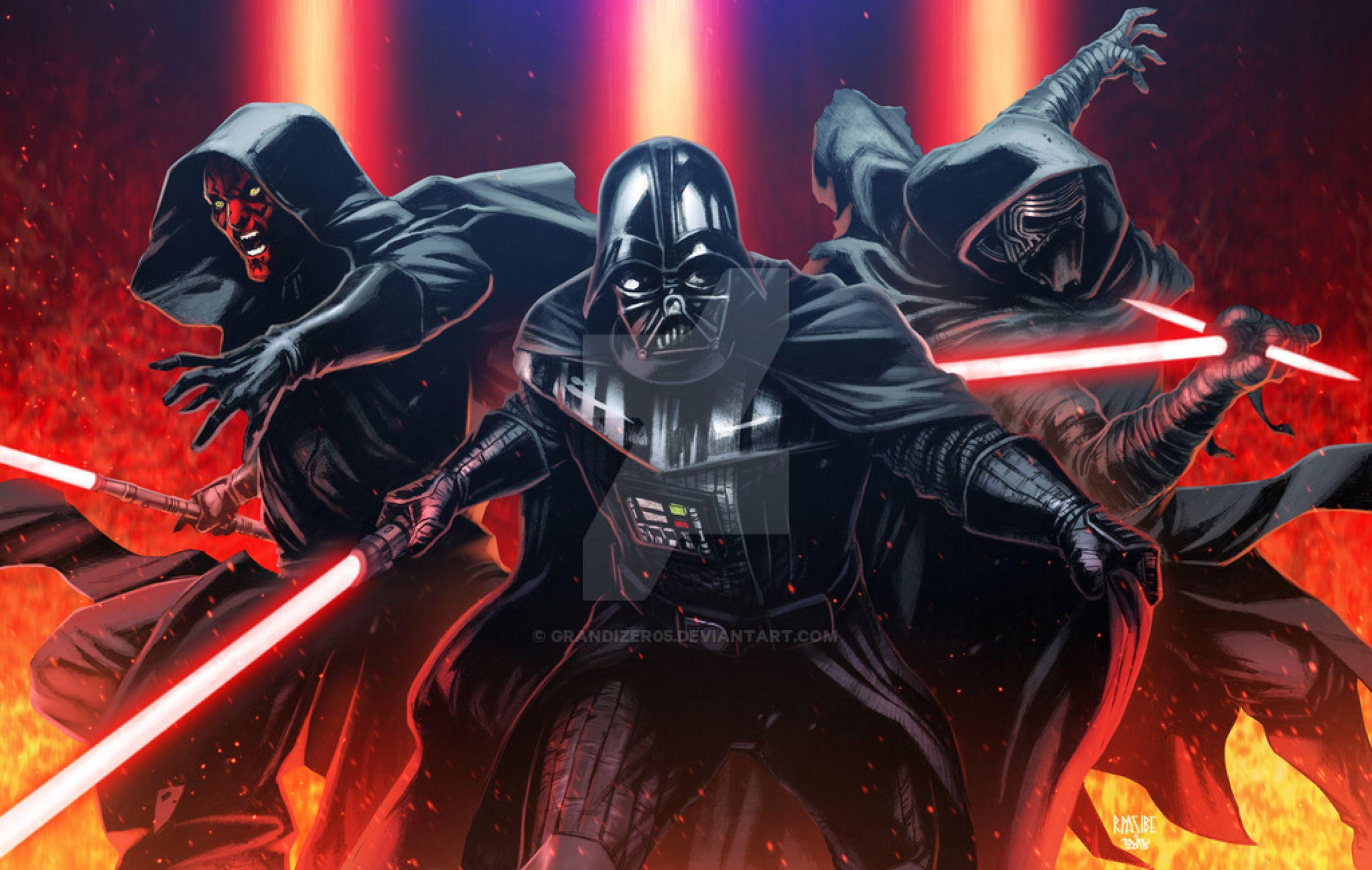 Sith Lords Colored Star Wars Wallpaper Star Wars Art Star Wars Kylo Ren