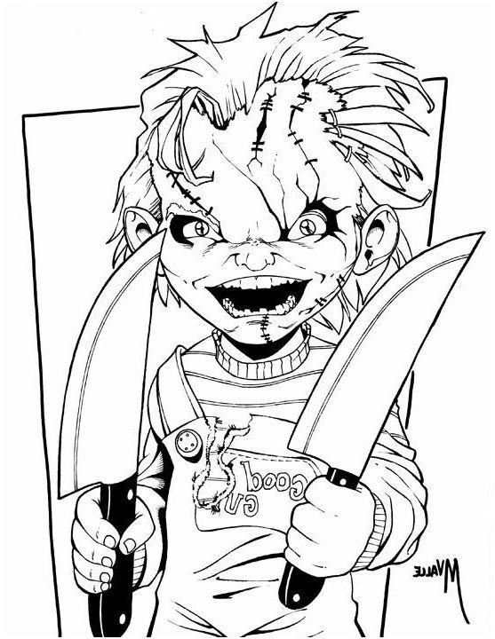 12 Qualite Coloriage Chucky Stock Avec Images Coloriage