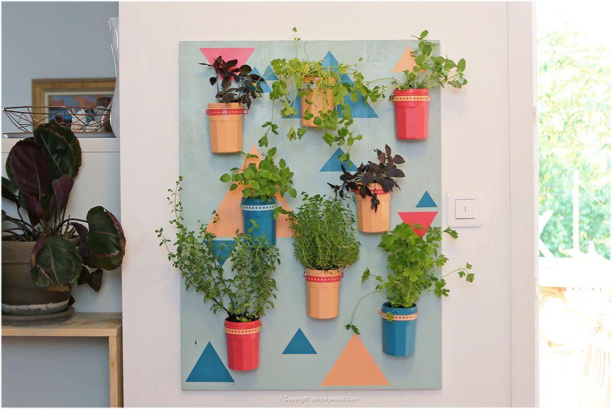 diy couleurs et senteurs un mur de plantes aromatiques purple jumble diy tuto decoration. Black Bedroom Furniture Sets. Home Design Ideas