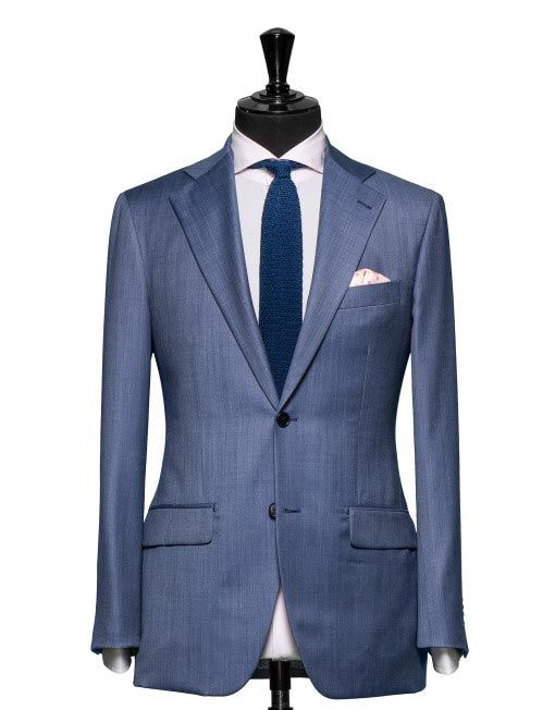 Tailored 2-Piece Suit - Fabric 4235 Stripes Blue