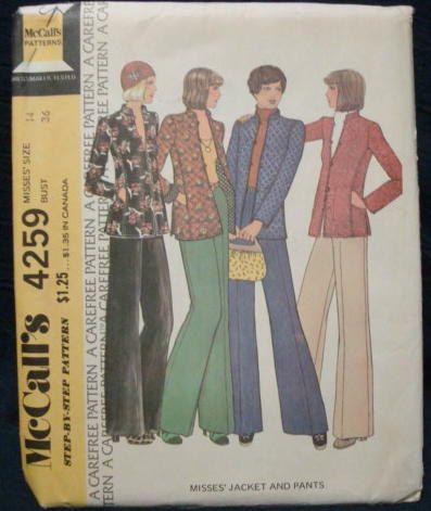 1970s Mandarin Nehru Princess Seams Mega Flares by kinseysue, $8.00