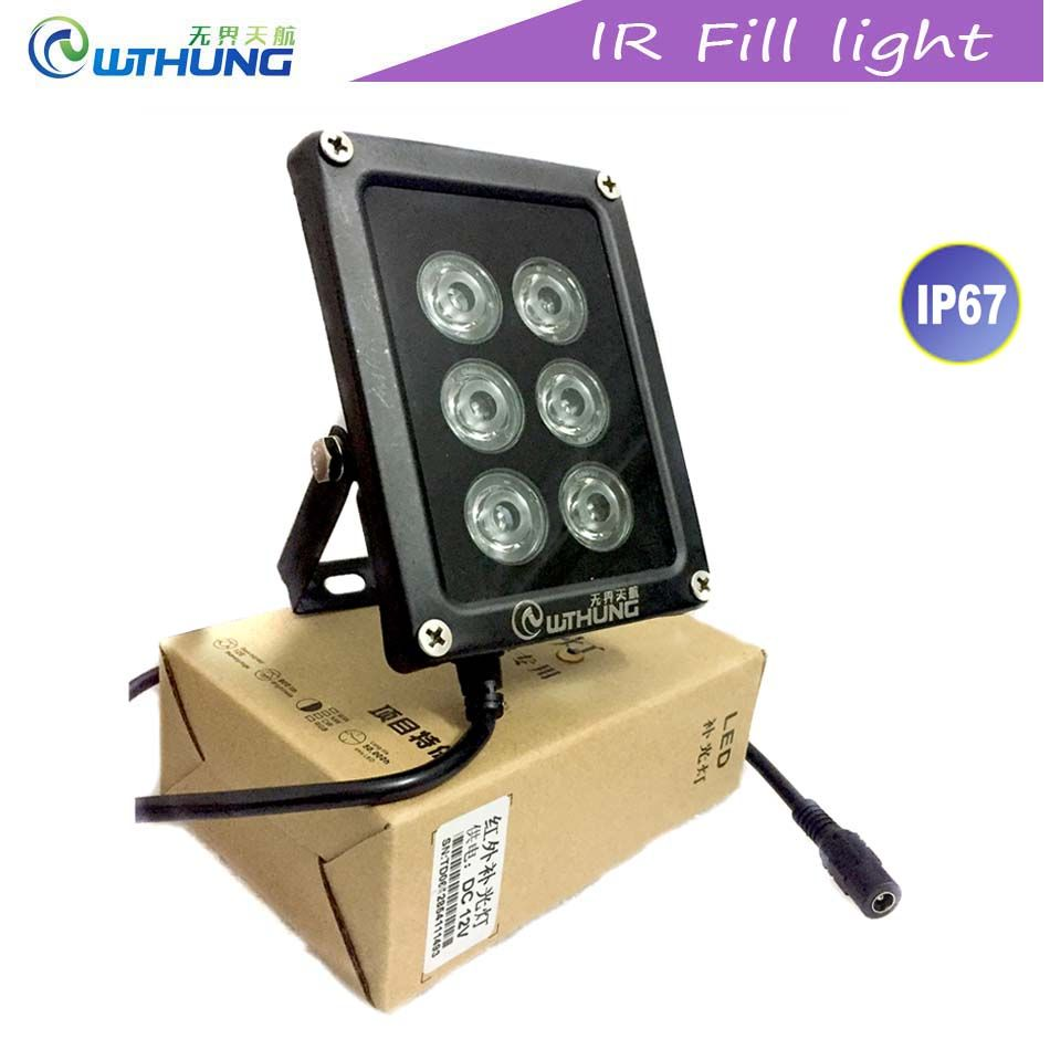 Lampe Exterieur Wifi Cctv Ir Led Illuminator 850nm 6 Stks Array Infrarood Led Lamp