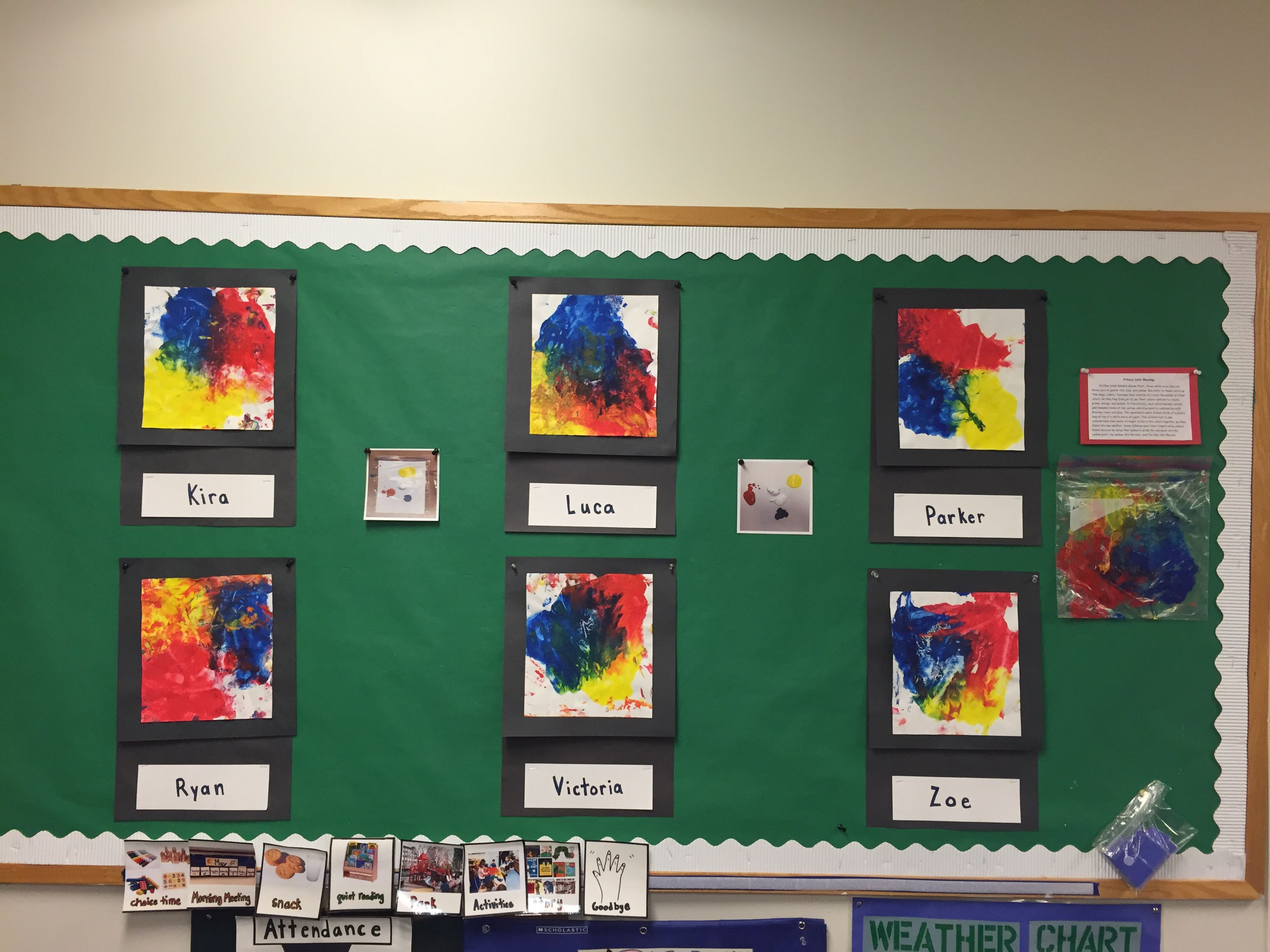 Primary Color Mixing And Blending Based On Ellen Stoll