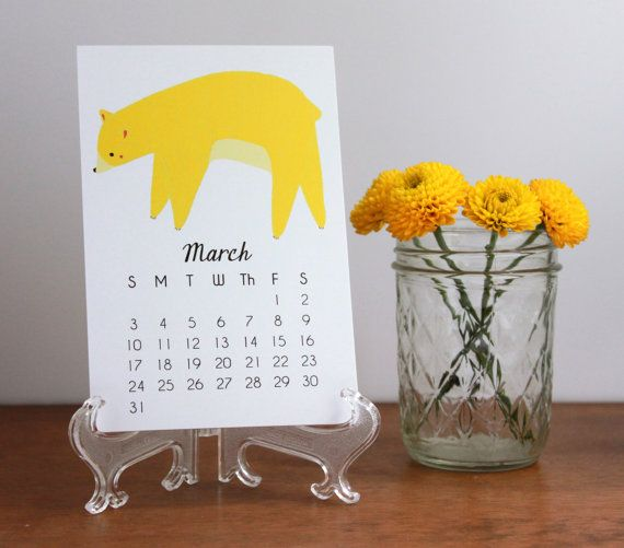 2013 Bear Calendar with Display Easel by Gingiber, $21.00