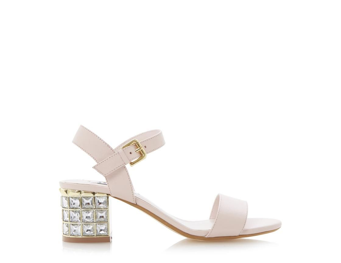 e6621c95924c DUNE LADIES HARAH - Jewelled Block Heel Sandal pink by Dune London   dunelondon  duneshoes  dune  sandals  heels  shoes  fashion  style  pastel   pink