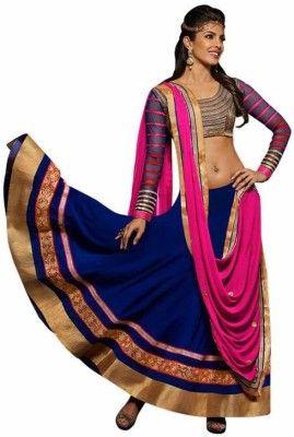 51345c895601f0 Bollylounge Self Design Women s Ghagra