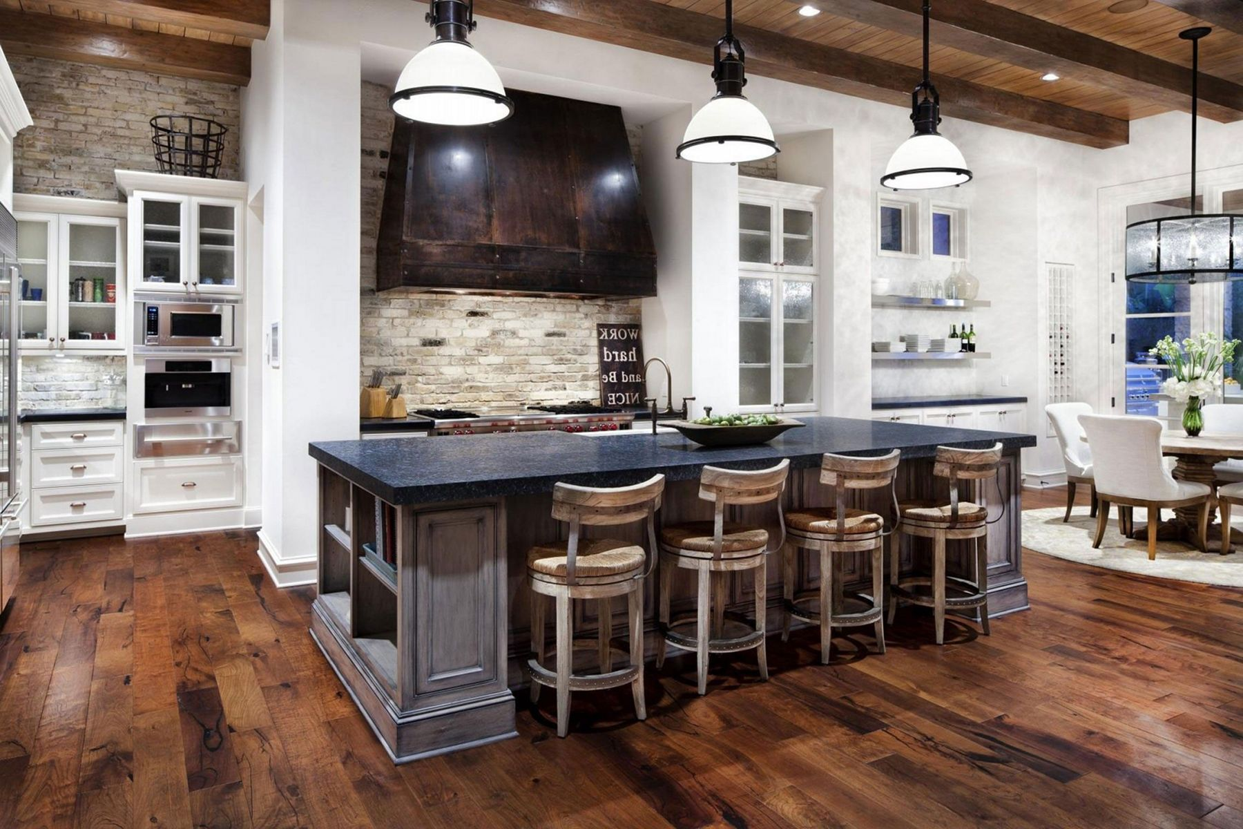 Rustic Contemporary Interior Design | Rustic kitchen ...