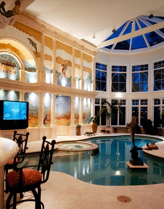 Amazing indoor swimming pools inground kids also best interior opulence images future house luxury houses rh pinterest