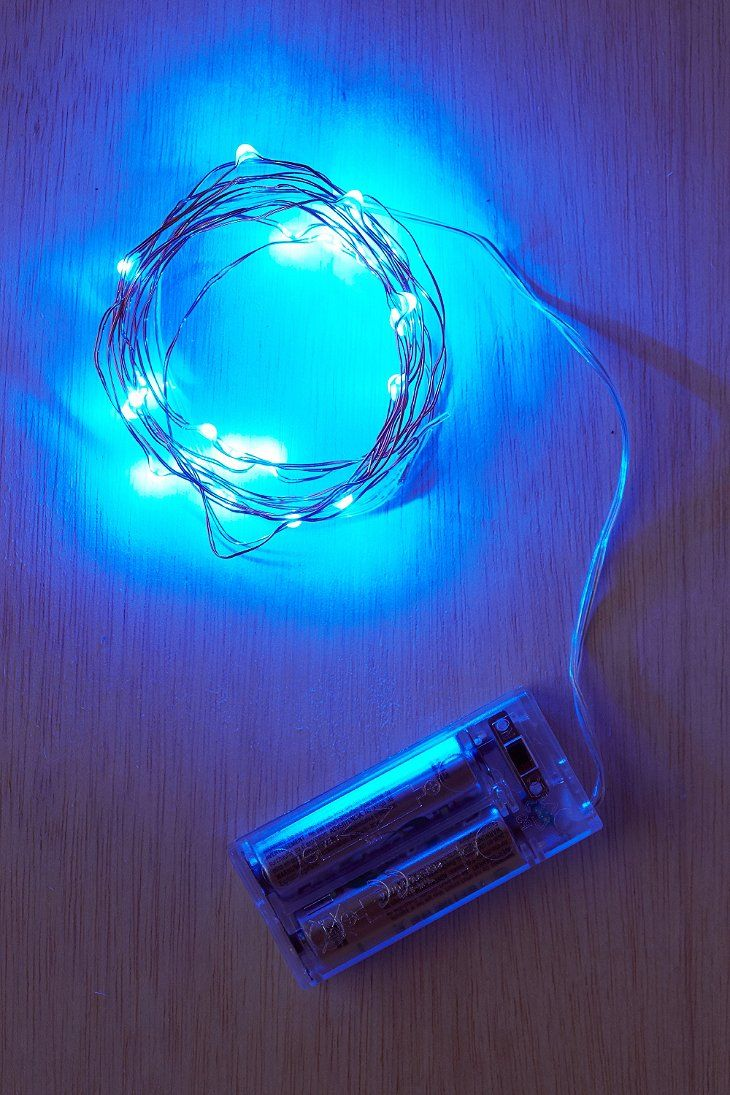 Light Blue Firefly Battery Ed String Lights Urban Outers