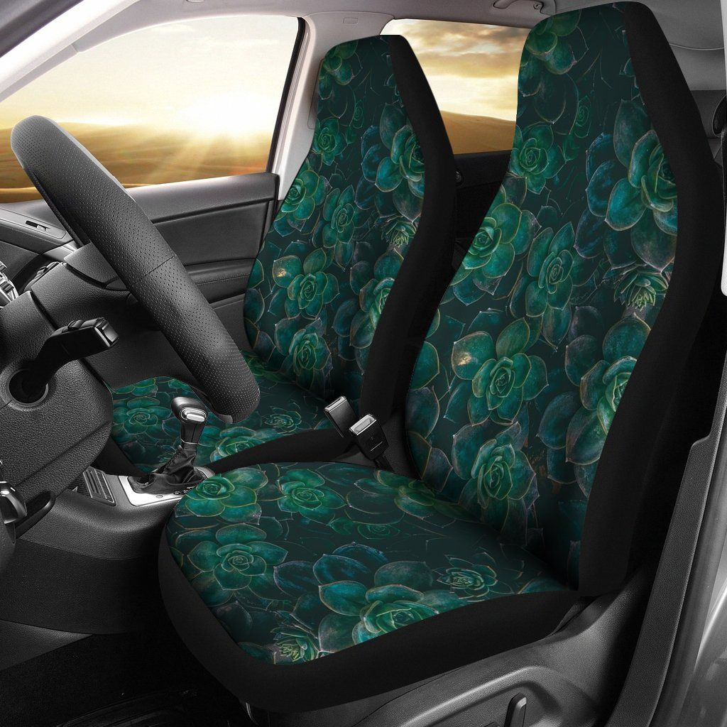 Green Boho Flower Boho Car Seat Covers LT04 Car seats