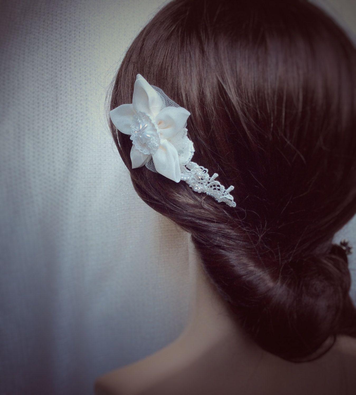 wedding hair flower, bridal hair comb, hair accessories for
