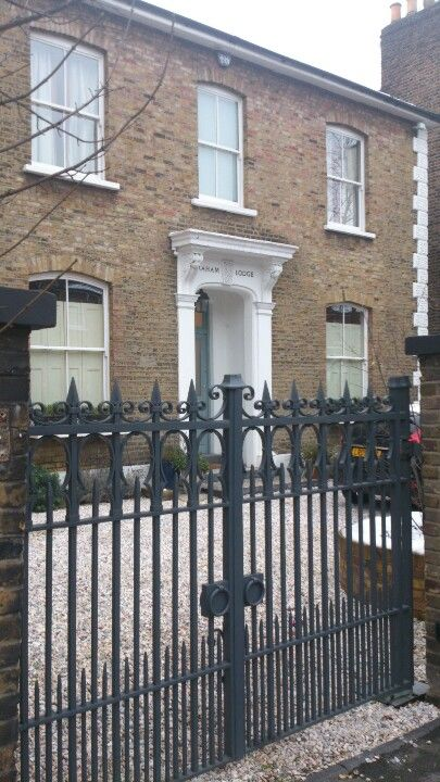 Edwardian House In London With Gate With Images Wrought Iron