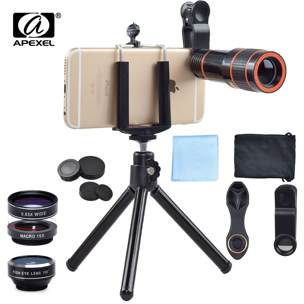 cb61e550f7cf4c APEXEL Camera Lens with Tripod 12X Clip Telescope Zoom in Mobile Phone Lens  for iPhone xiaomi Samsung galaxy android Smartphone Review