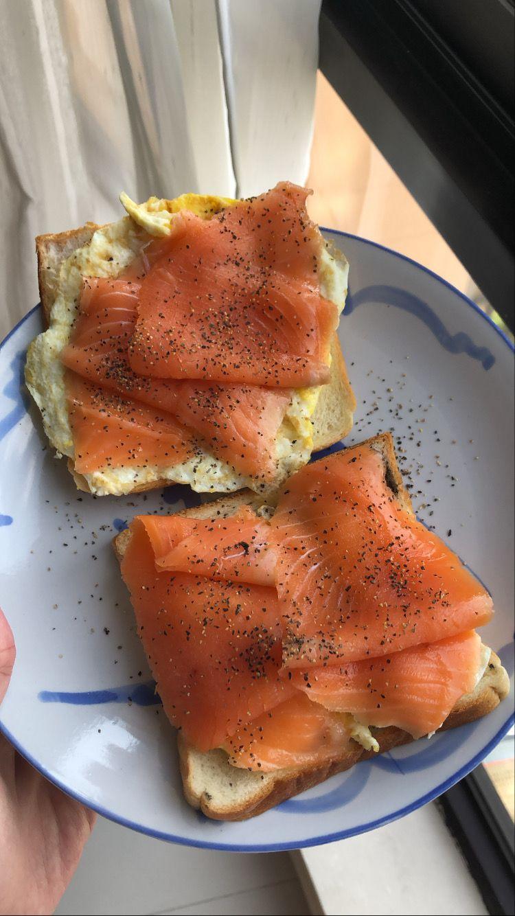 Homemade Salmon And Scrambled Egg Toast Di 2020