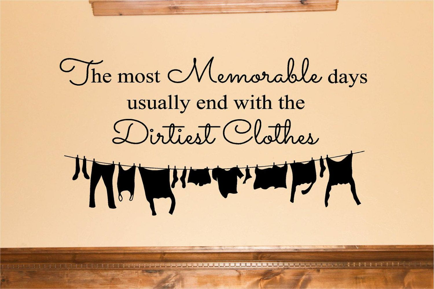 Laundry Vinyl - Memorable Days, Laundry Decor, Vinyl Wall Decal ...