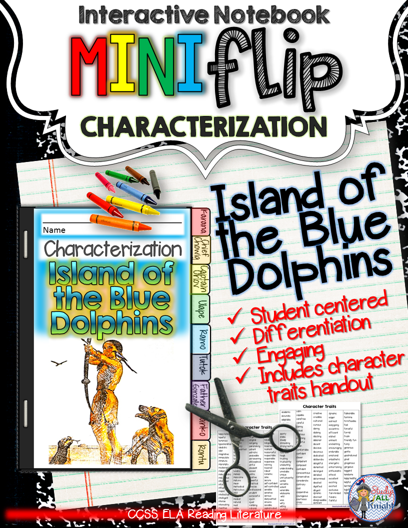 island of the blue dolphins novel guide activities the o jays island of the blue dolphins interactive notebook characterization mini flip