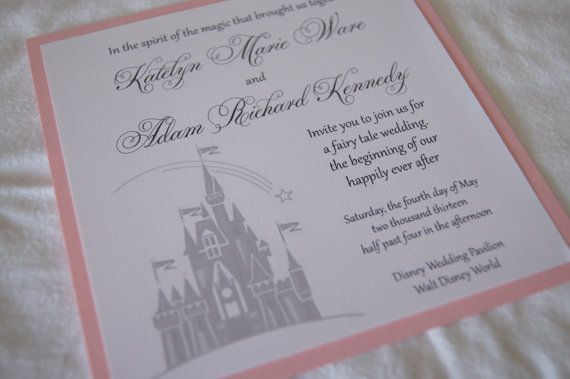 Custom fairytale castle wedding invitation SAMPLE Castle