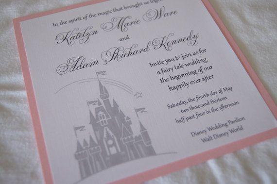 Custom Fairytale Castle Wedding Invitation Sample Disney