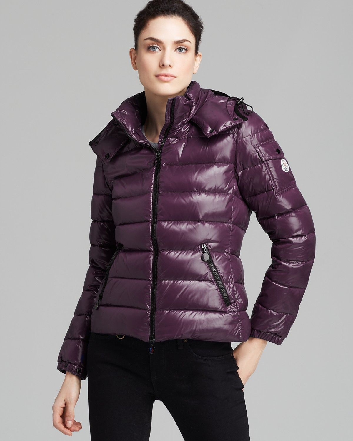 d815840ee Moncler Bady Lacquer Hooded Short Down Coat | Bloomingdale's ...