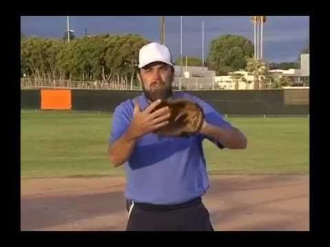 Young Players Need To Learn Any Catch Above The Waist Is Glove Up And Any Catch Below The Waist Is Glove Down Here Softball Training Softball Baseball Drills