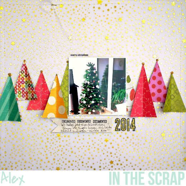 Christmas Scrapbook Layouts | 12X12 Page | Scrapbooking Ideas | Creative Scrapbooker Magazine #scrapbooking #12x12layout #christmas