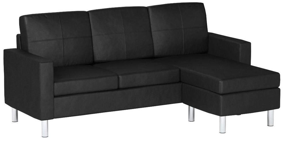 Best Modern Bonded Leather Sectional Sofa Small Space 400 x 300