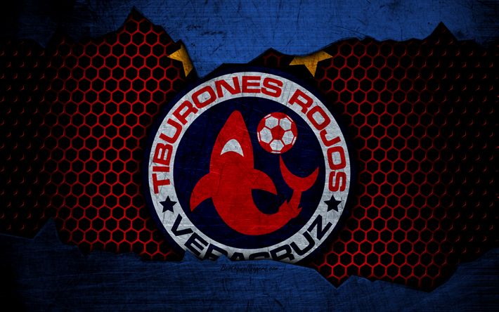 Download wallpapers TR Veracruz, 4k, logo, Liga MX, soccer, Primera Division, football club, Mexico, grunge, metal texture, TR Veracruz FC