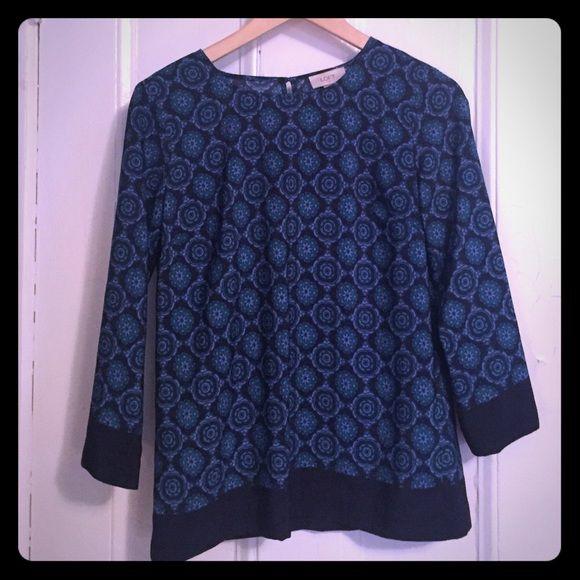 Loft paisley blouse! Ann Taylor loft paisley blouse- 3/4 length sleeves. Great for work or night! LOFT Tops Blouses