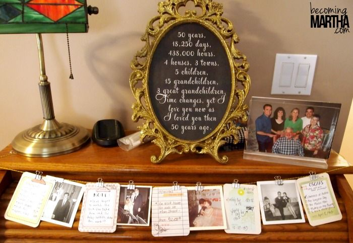 Gift Ideas For 50th Wedding Anniversary Party: Meaningful Party Idea For A 50th Anniversary