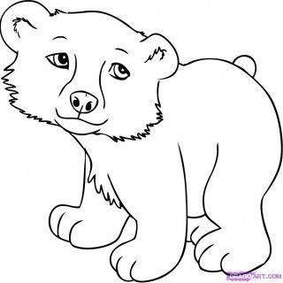 Easy To Draw Cute Animal Drawings Litle Pups Wild Animals