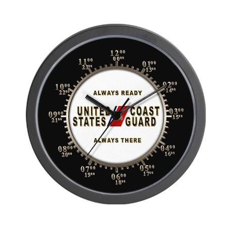 Uscg Military Time Wall Clock By Kellbana Wall Clock Design