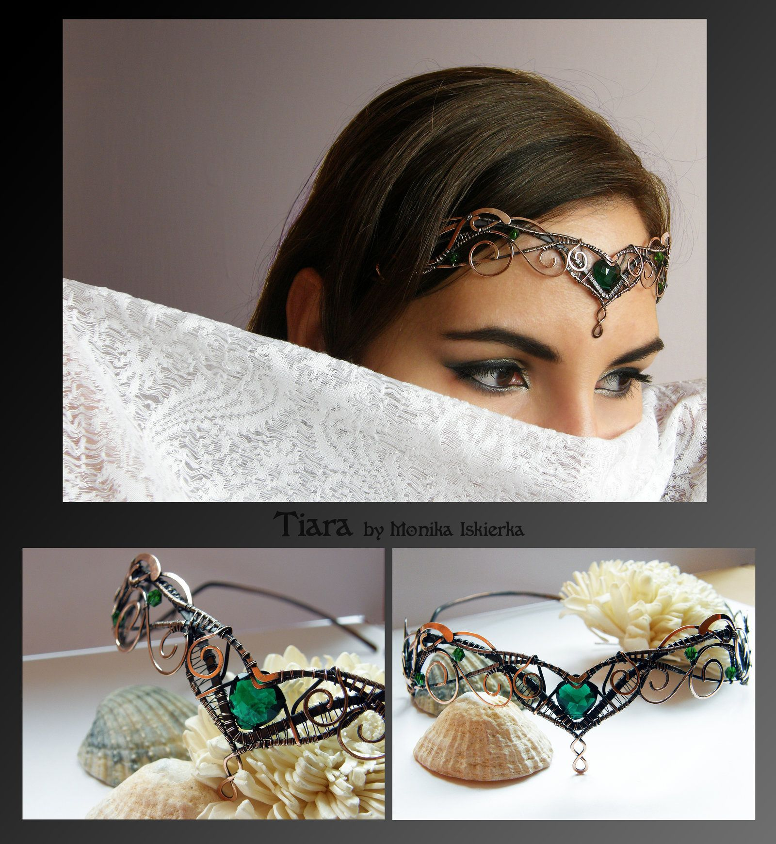 Tiara- wire wrapped copper by mea00 | Wire craft | Pinterest | Wire ...