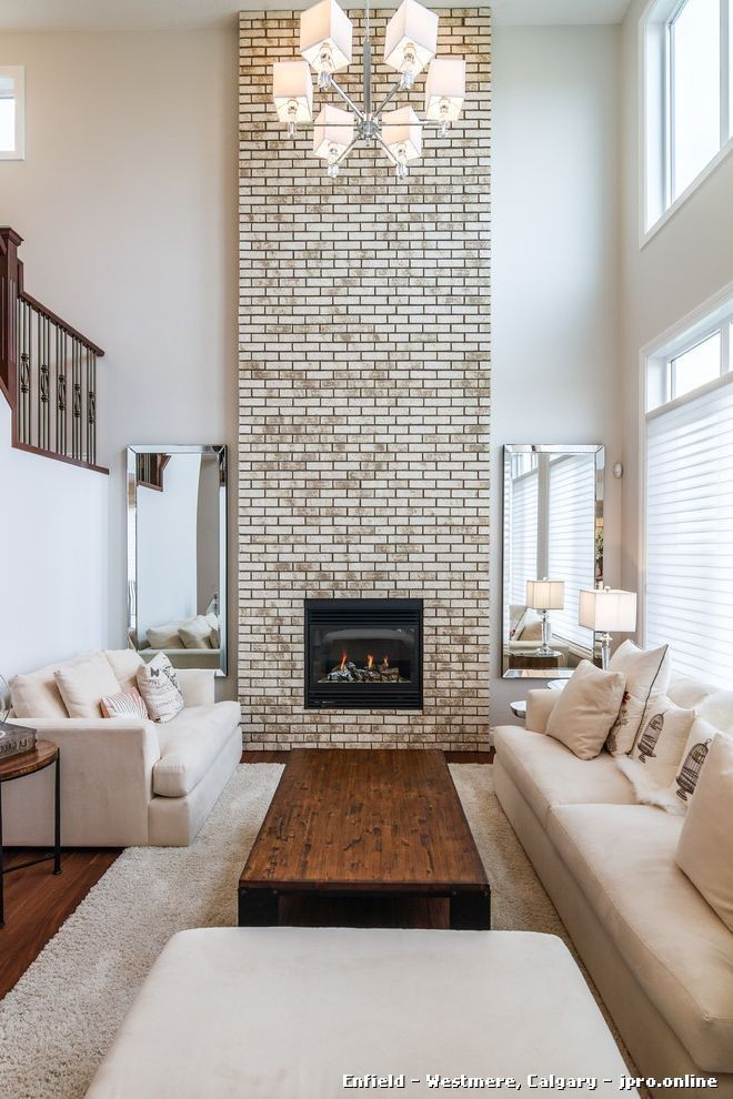 No Mantle Hearth Brick Up High, How To Decorate A Brick Fireplace Without Mantle